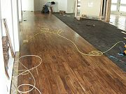 Acacia Hardwood Flooring Being Installed in Great Room, April 22, 2009