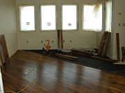 Acacia Flooring Being Installed in Office, April 29, 2009
