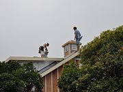 Cupola Installed on Barn Roof, February 19, 2010