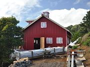 First Coat on Barn Wet and Red, March 14, 2010
