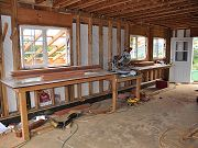 First Workbench with Compound Miter Saw, February 22, 2010