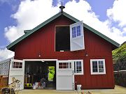 Barn with Front Doors Open, May 10, 2010