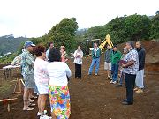 Rev. Adam Gomes with friends at Hawaiian Blessing on April 3, 2008