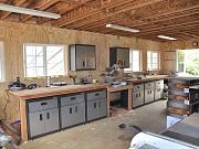 Cabinets Installed in Barn, June 2, 2010