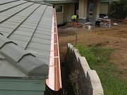 First Length of Copper Gutters Installed. June 14, 2009