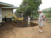 Dining Room Pond Being Dug, May 7, 2009