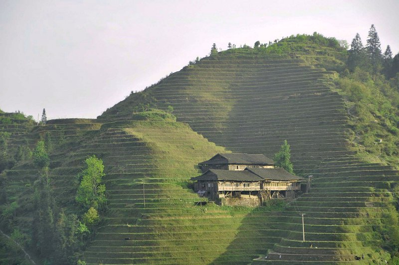 Inspiration for Terraced Rock Walls, Dragon's Backbone Rice Terraces, Dazhai, China