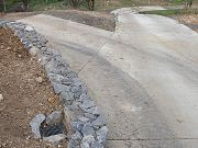 Driveway To Lower Clearing and Retaining Wall, May 6, 2009