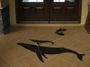 Main Entry and Inlaid Humpback Whales, Sept. 29, 2009