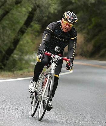 Eric Newman riding in Napa Valley