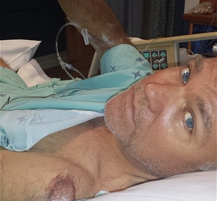 Eric Newman recovering after a cycling crash and a broken hip