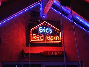 Eric's Red Barn Neon Sign Upstairs