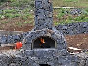 First Fire in Outdoor Pizza Oven, November 9, 2010