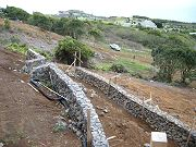 First Two Blue Rock Terraced Walls.  March 5, 2009