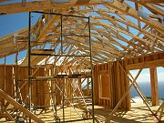 Framing in Great Room in August, 2008