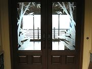 Sandblasted Front Doors from Outside, Sept. 29, 2009