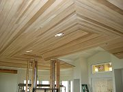Installation of Cedar Ceiling in Great Room.  April 4, 2009