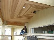 Installation of Cedar Ceiling in Main Lanai.  April 7, 2009