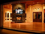 Great Room with TV and Fireplace, Sept. 30, 2009