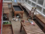 Greenhouse Interior with Benches, March 26, 2010