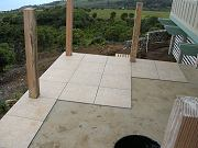 Guest Lanai Porcelain Tile Installation.  April 7, 2009