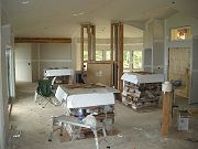 Hardwood Flooring Delivered and Acclimatizing in Great Room.  March 7, 2009