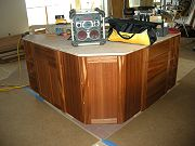 Kitchen Island Cabinets being Installed. May 18, 2009