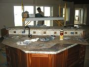 Kitchen Island and Backsplash, August 19, 2009