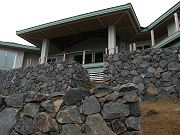 Main Lanai and Terraced Walls From Below.  March 26, 2009