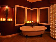 Master Bathroom Panorama, August 8, 2012