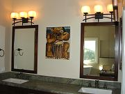 Master Bathroom Sinks and Avi Kiriaty Artwork, Oct. 10, 2009