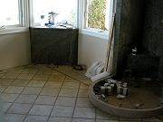 Master Bathroom Under Construction, Sept. 2, 2009