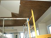 Bamboo Being Installed on Master Bedroom Ceiling. June 17, 2009