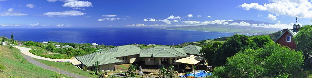 Dream House in Maui with Hut under Construction