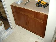 Office Bathroom Cabinets being Installed. May 15, 2009