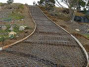 Long Driveway Formed and No. 10 Mesh.  April 1, 2009