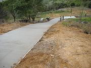 Starting to Pull Forms on Driveway.  April 1, 2009