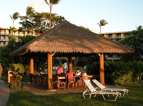 Hut in a Maui Resort Hotel - This Design is Similar to our Hut