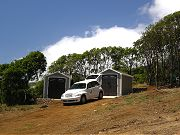 Sheds and Rental Car in Lower Clearing in August, 2008