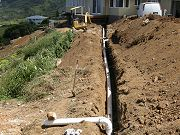 Six Inch Gutter Pipe with Valve and Overflow.  June 11, 2009