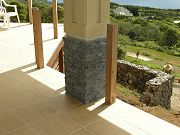 Slate Veneer on Lanai Column.  June 2, 2009