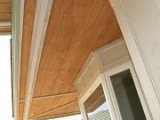 Wood Installed on Soffits under Eaves.  March 7, 2009