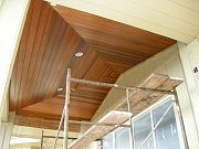 Stained Cedar Ceiling on Lanai. June 12, 2009