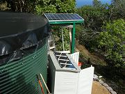 Water Tank and 160W Solar Panels