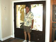 Glass Artist Tom Trottier and the Sandblasted Front Doors, Sept. 16, 2009