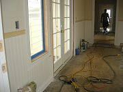 Wainscoting Installed in Breezeway. June 12, 2009