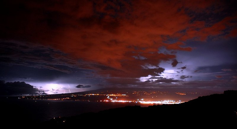 Thunderstorm and Lightning over Haleakala